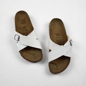 Birkenstock Birki Santosa White Cross-Strap Sandal